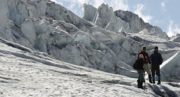 Guided interpretive icewalk at Athabasca Glacier, Columbia Icefields